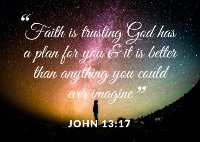 Faith is trusting God