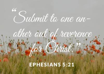 Reverence for Christ