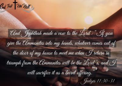 Making Promises to God